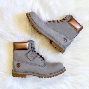 "Timberland AF 6"" Premium Grey/Metallic Copper Boot"